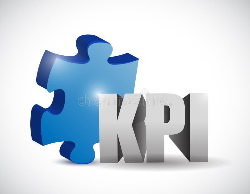 Kpi-Puzzlespielstück-Illustrationsdesign lizenzfreie abbildung