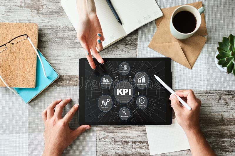 KPI - Schl?sselleistungsindikator Gesch?ftsprozess-Leistungsf?higkeits-Verbesserung stockfotografie