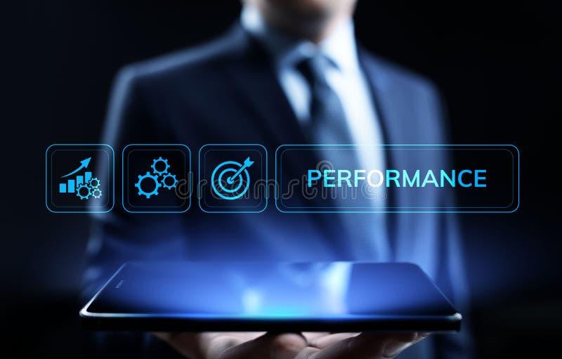 KPI-Schl?sselleistungsindikatorzunahmeoptimierungsgesch?ft und industrieller Prozess lizenzfreie stockfotos