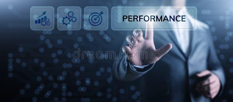 KPI-Schl?sselleistungsindikatorzunahmeoptimierungsgesch?ft und industrieller Prozess lizenzfreie stockbilder