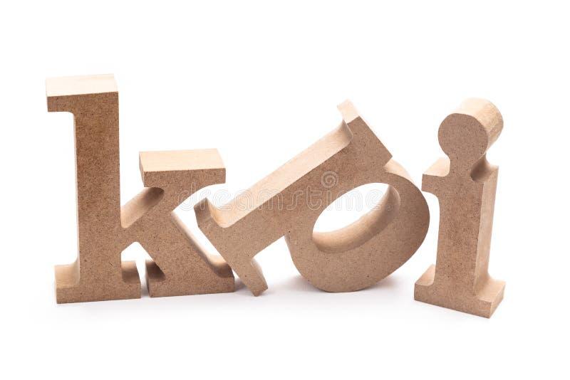 KPI Wood Letters. KPI abrreviation wood letters on white background Key Performance Indicator royalty free stock photos