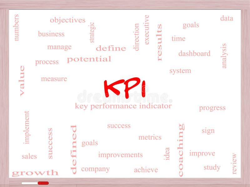 KPI-Word Wolkenconcept op een Whiteboard stock illustratie