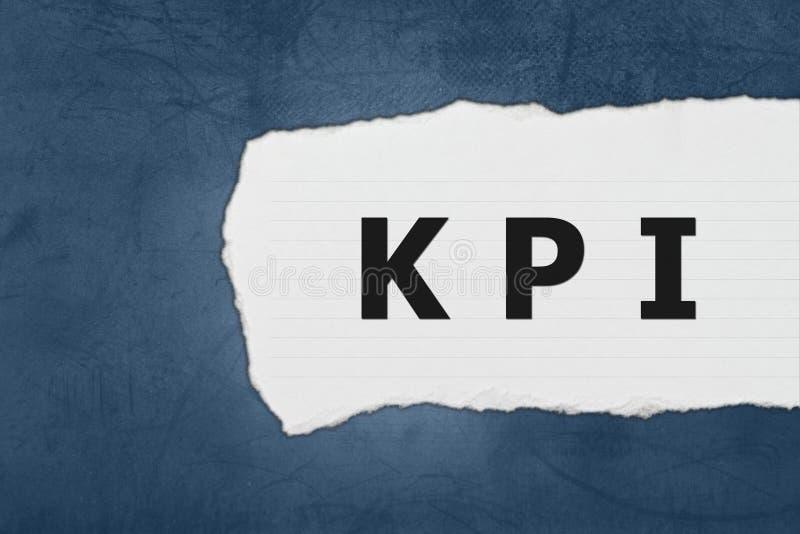 KPI of Zeer belangrijke Prestatie-indicator met Witboekscheuren stock foto's