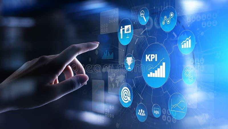KPI - Zeer belangrijke prestatie-indicator Zaken en industri?le analyse Internet en technologieconcept op het virtuele scherm royalty-vrije stock foto