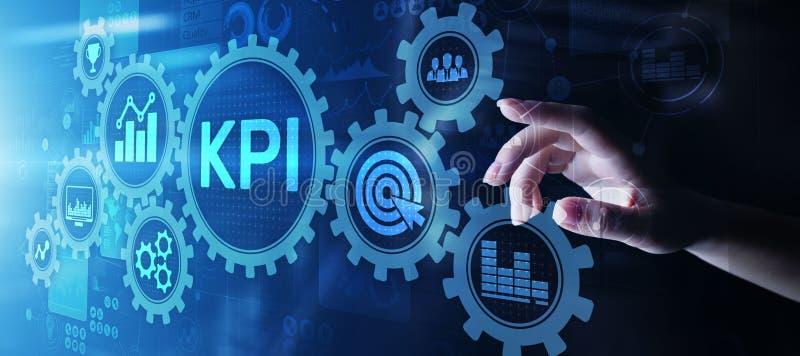 KPI - Zeer belangrijke prestatie-indicator Zaken en industri?le analyse Internet en technologieconcept op het virtuele scherm stock foto's