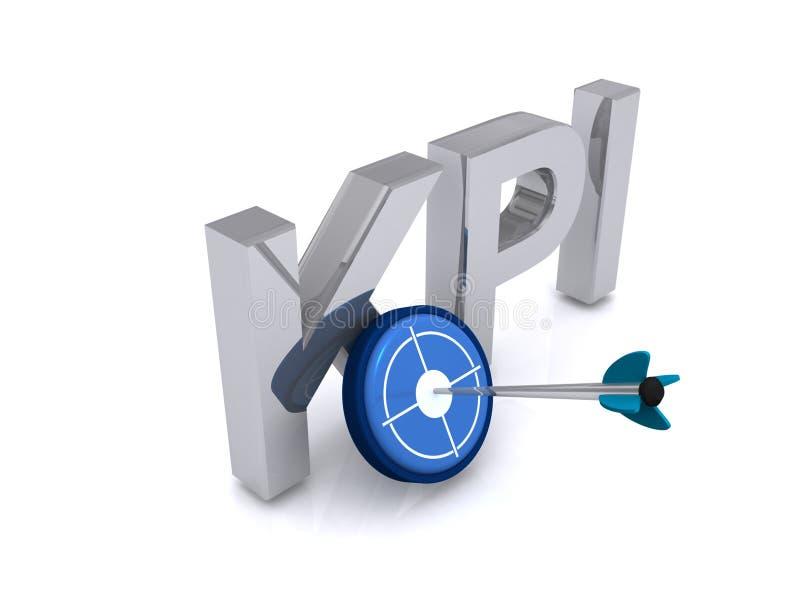 KPI-Zeichen mit einem Ziel stock abbildung