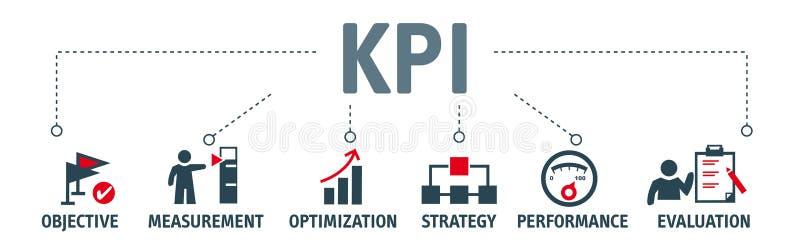 KPIs ocenia sukces organizacja szczegół lub ilustracja wektor