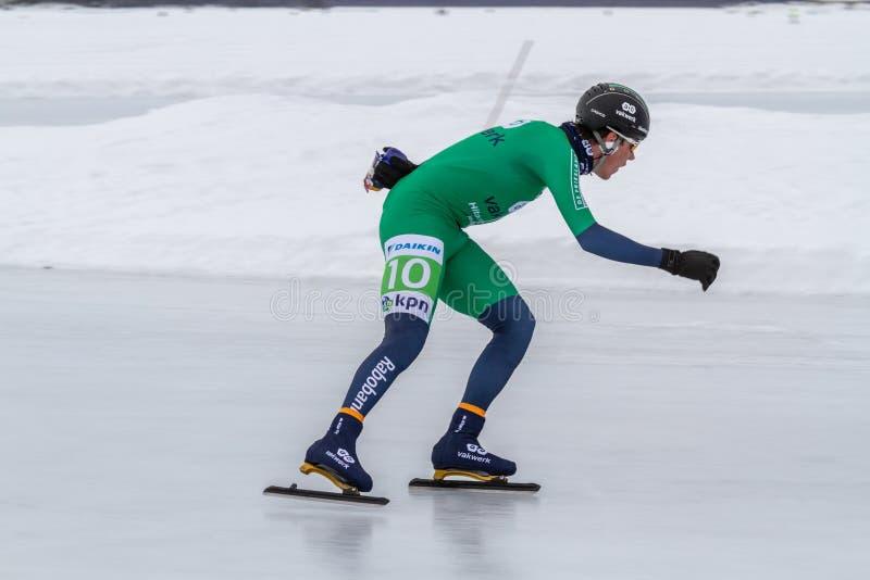 KPN Grand Prix dans Lulea, Suède, 2019 Homme de patinage de glace photos libres de droits