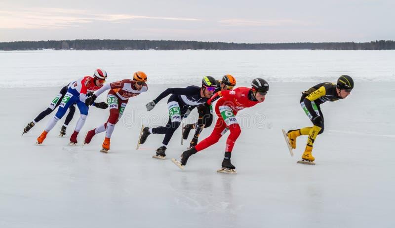 KPN Grand Prix dans Lulea, Suède, 2019 photographie stock libre de droits
