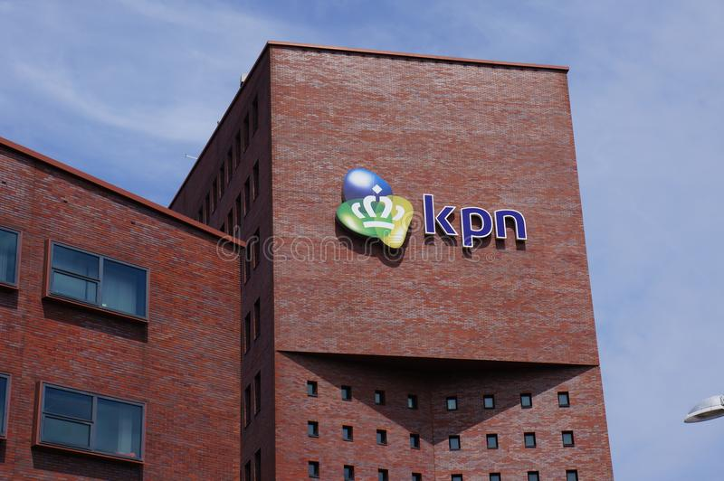 KPN office building in Amersfoort, the Netherlands. Amersfoort, the Netherlands. July 2018. KPN, a Dutch landline and mobile telecommunications company royalty free stock photography