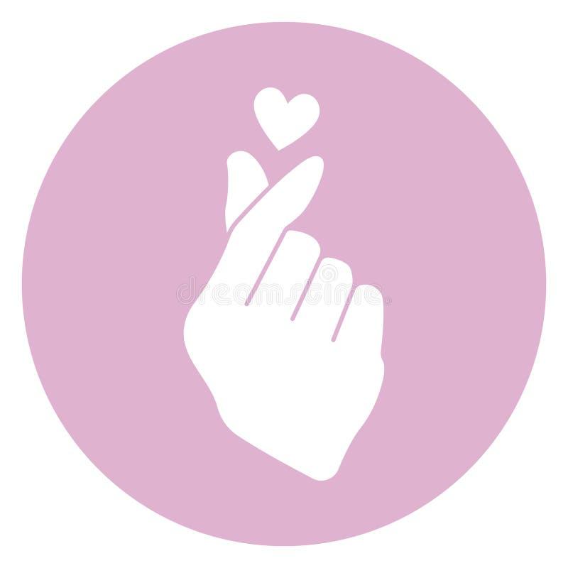 Korean Finger Heart Icon royalty free illustration