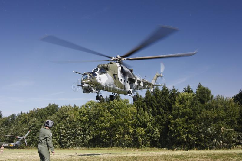 Czech Air Force Mil Mi-24V attack helicopter stock photos