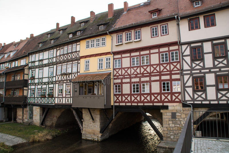 Krämerbrà ¼ cke Erfurt stock afbeeldingen