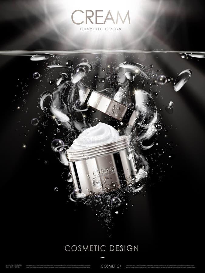 Kräm- annons för skönhetsmedel vektor illustrationer