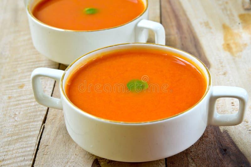 Kräm av tomatsoppa arkivfoto
