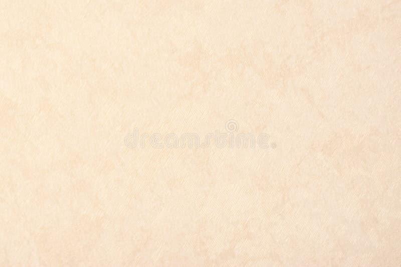 Kräm- beige färg för texturbakgrundspapper, pergamentpapper, websitebakgrund royaltyfria foton
