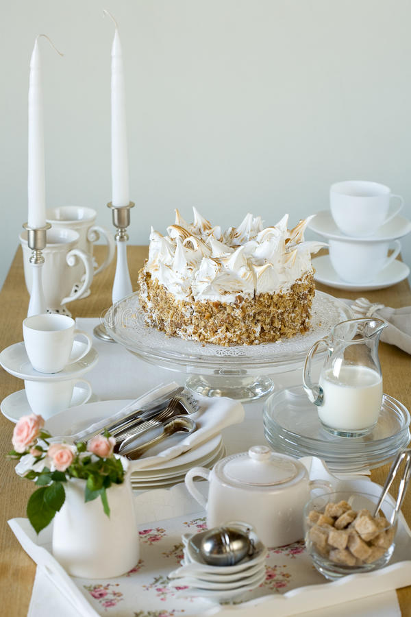Kräm- cake arkivfoton