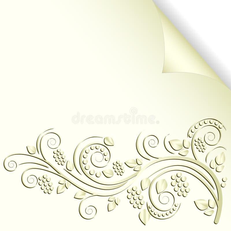 Kräm- Färgbakgrund Arkivfoto