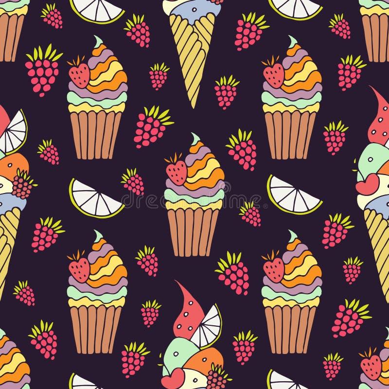 kräm- is för cake vektor illustrationer