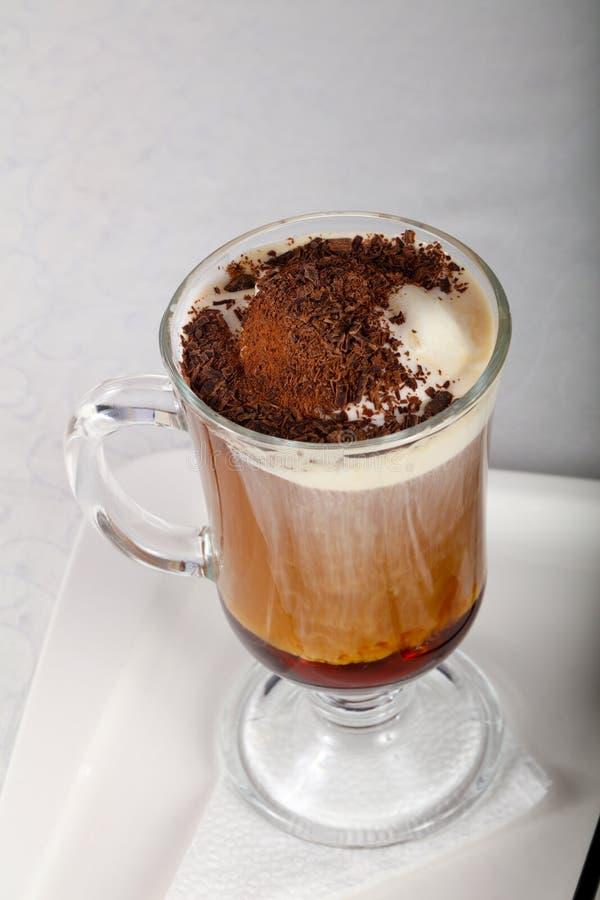 kräm- is för kaffe royaltyfri fotografi