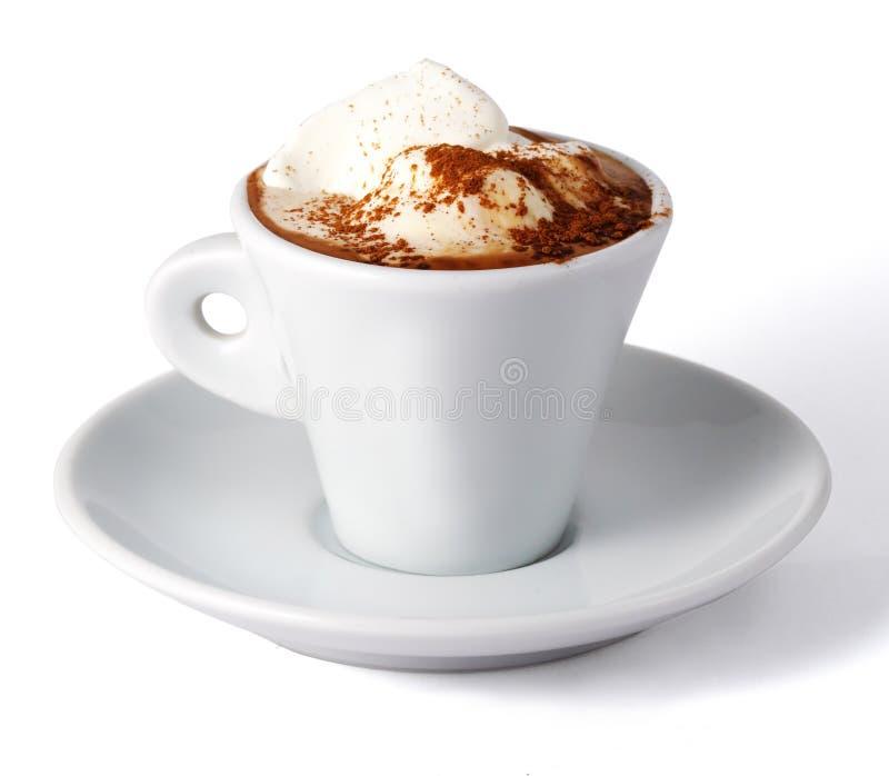 kräm- is för kaffe arkivfoton