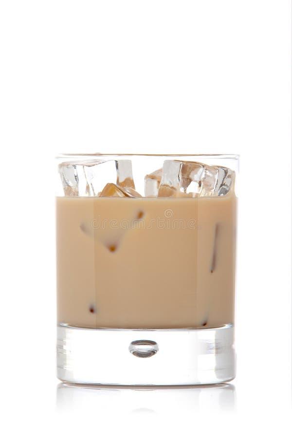 kräm- glass whiskey arkivbild