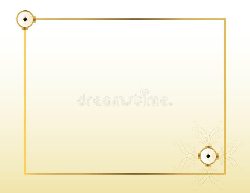 kräm- guld för 2 bakgrund stock illustrationer