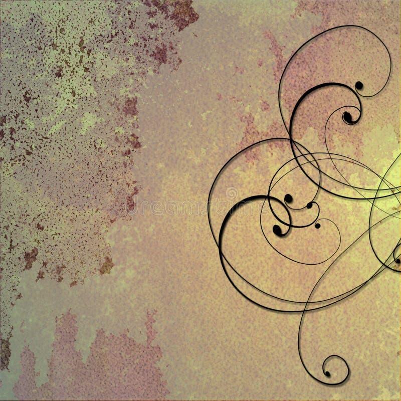 kräm- guldpurple för bakgrund royaltyfri illustrationer