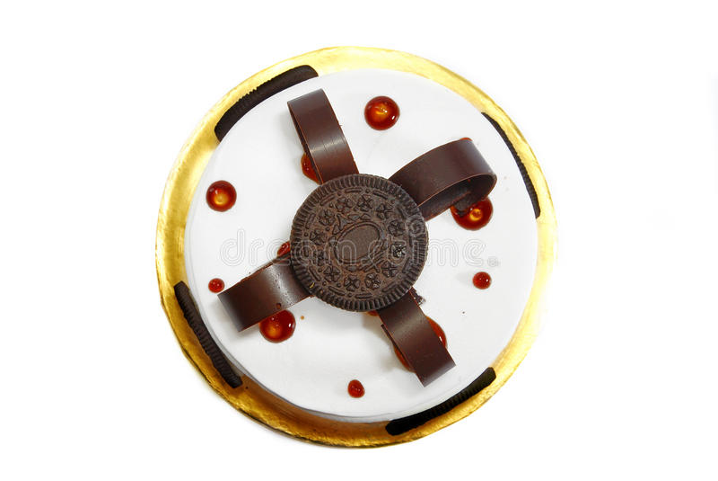 Kräm- kakaCakeserie 01 arkivfoto
