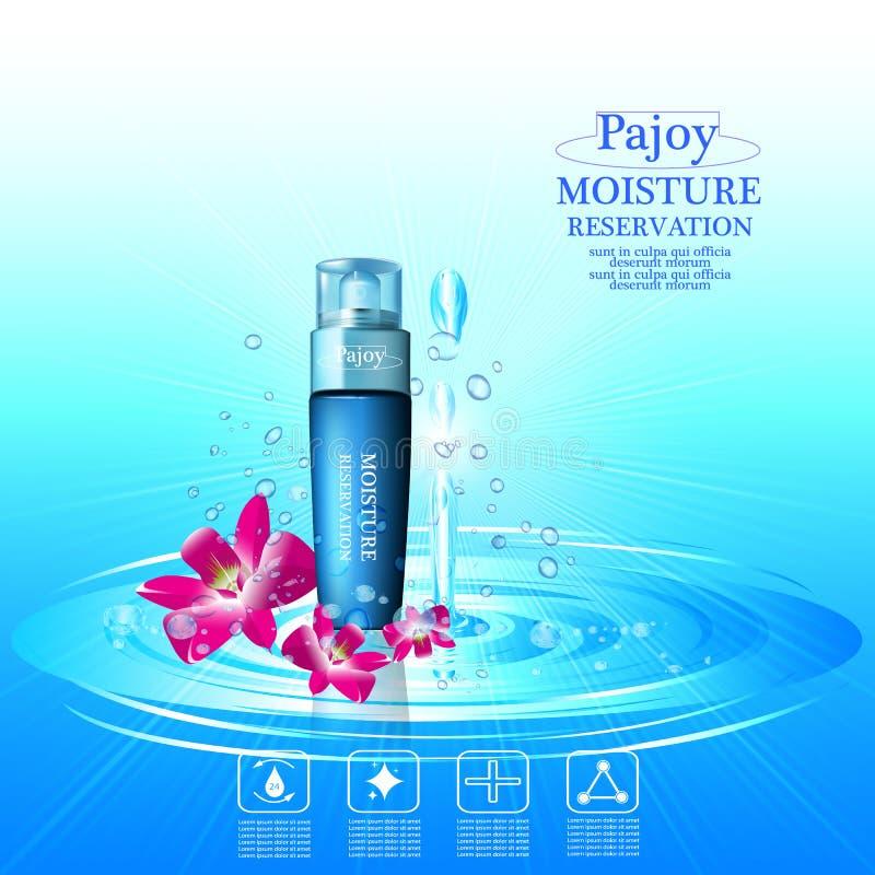 kräm- moisturizing royaltyfri illustrationer