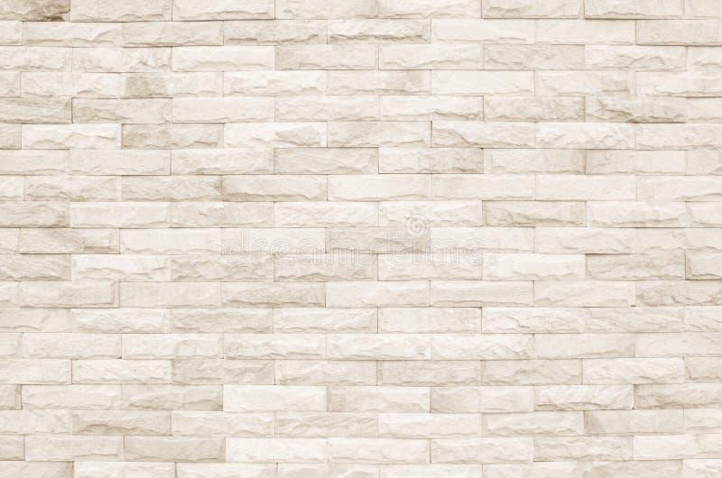 Kräm- och vit bakgrund för textur för tegelstenvägg Murverk eller ston fotografering för bildbyråer