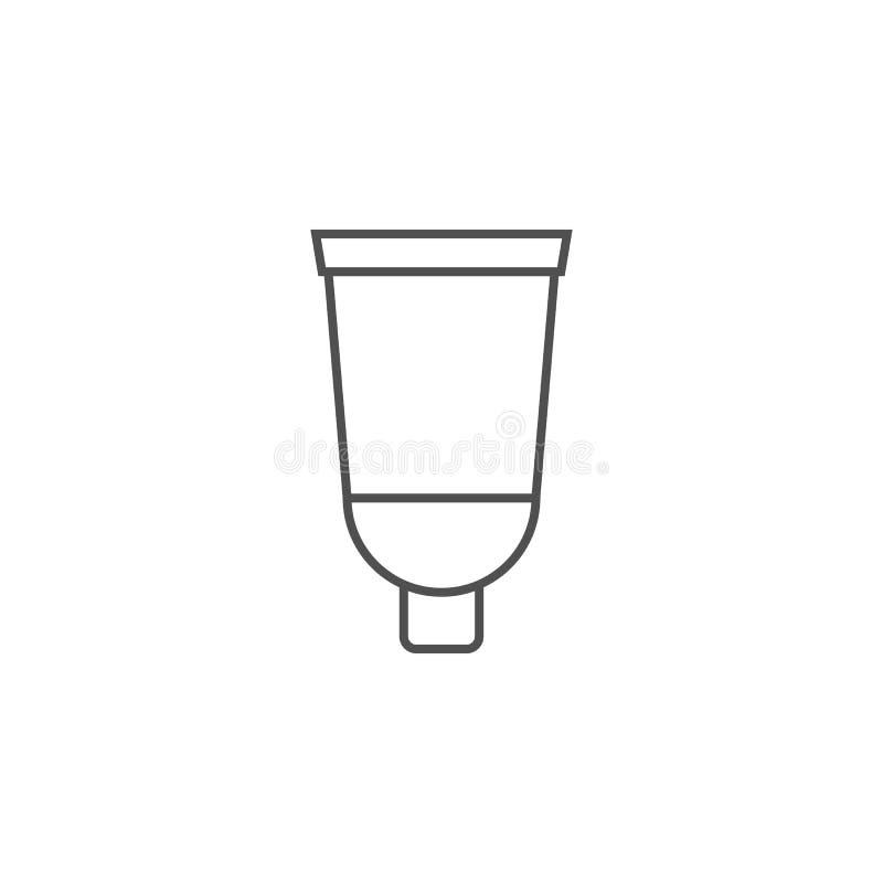 Kräm- rörvektorsymbol vektor illustrationer