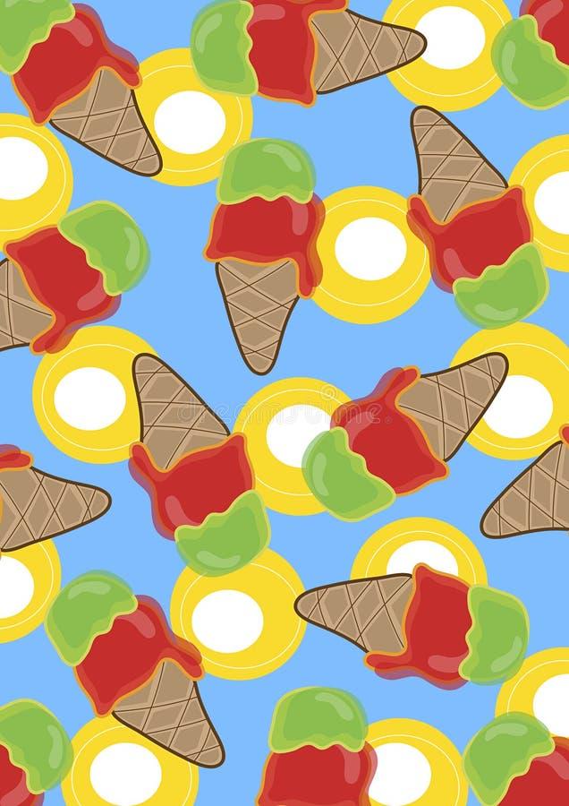 kräm- retro islimefrukt för Cherry vektor illustrationer