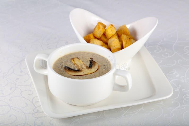 Kräm- soppa för champinjon arkivbilder