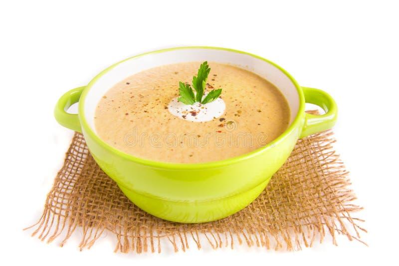 Kräm- soppa för champinjon royaltyfri fotografi