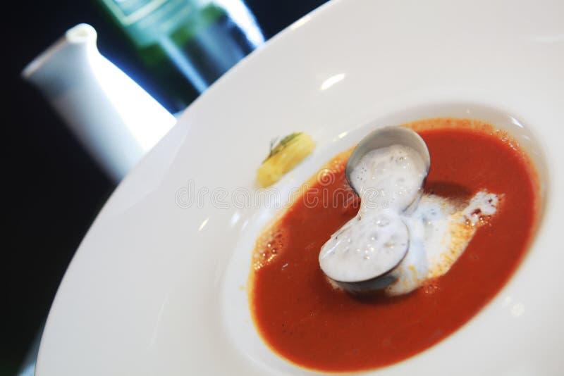 kräm- soup arkivfoton