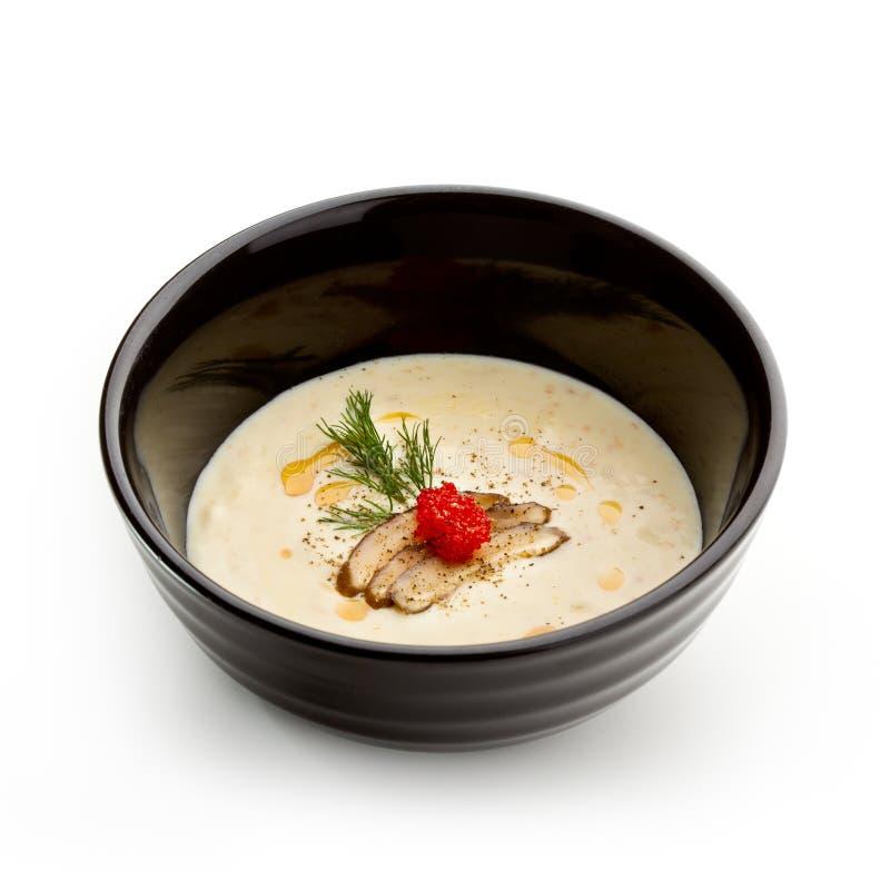 kräm- soup för ost arkivbilder