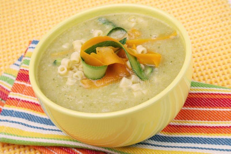 kräm- soupgrönsak arkivfoto