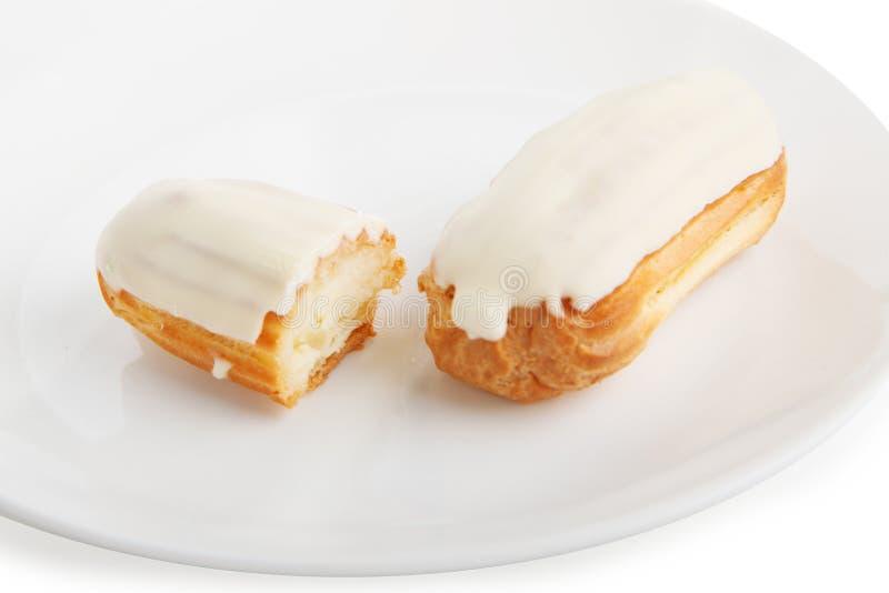 kräm- white för cake arkivfoto