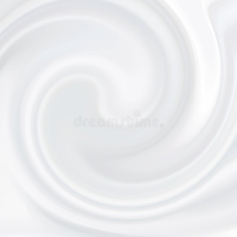 kräm- white Kosmetisk produkt, mjölkaktig vätsketextur royaltyfri illustrationer