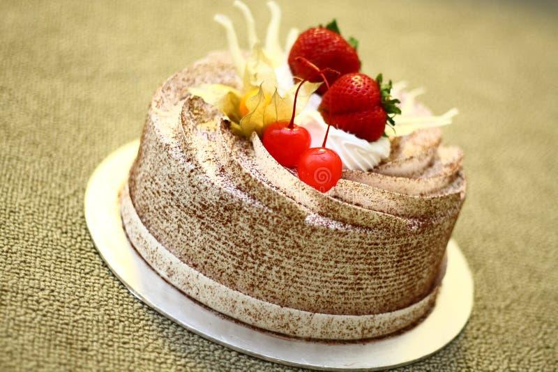 krämig cakechoklad royaltyfria bilder