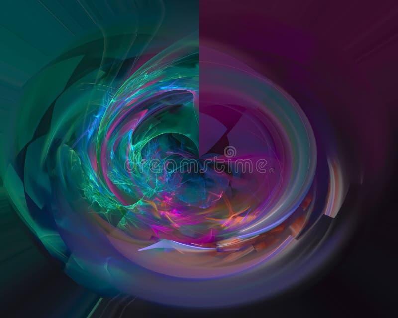 Kräuseln dekorative magische Kartenverzierung des abstrakten digitalen Fractal kreatives, die künstlerische Schablone, Eleganz, D lizenzfreie stockbilder