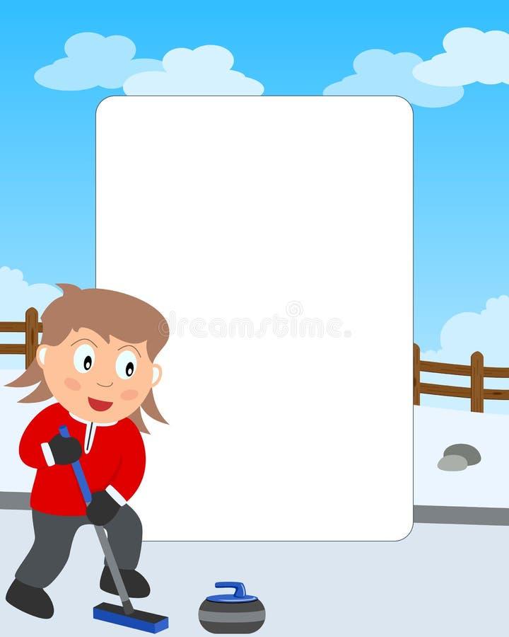 Kräuselnmädchen-Foto-Feld lizenzfreie abbildung