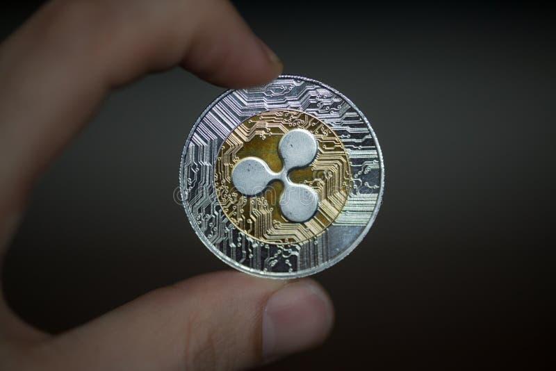 KRÄUSELUNG cryptocurrency Münze stockbilder