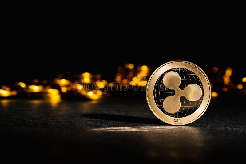KRÄUSELUNG cryptocurrency Münze lizenzfreies stockfoto