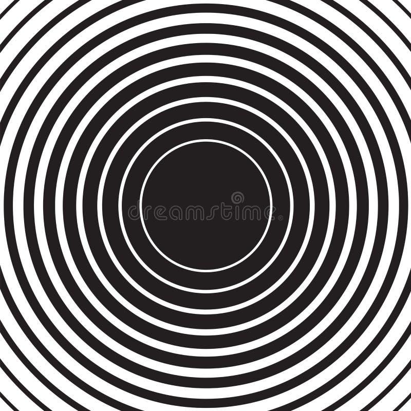 Kräuselungsradialhintergrund des konzentrischen Kreises stock abbildung