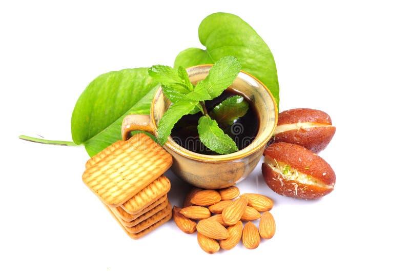 Kräuterteefrühstück stockfoto