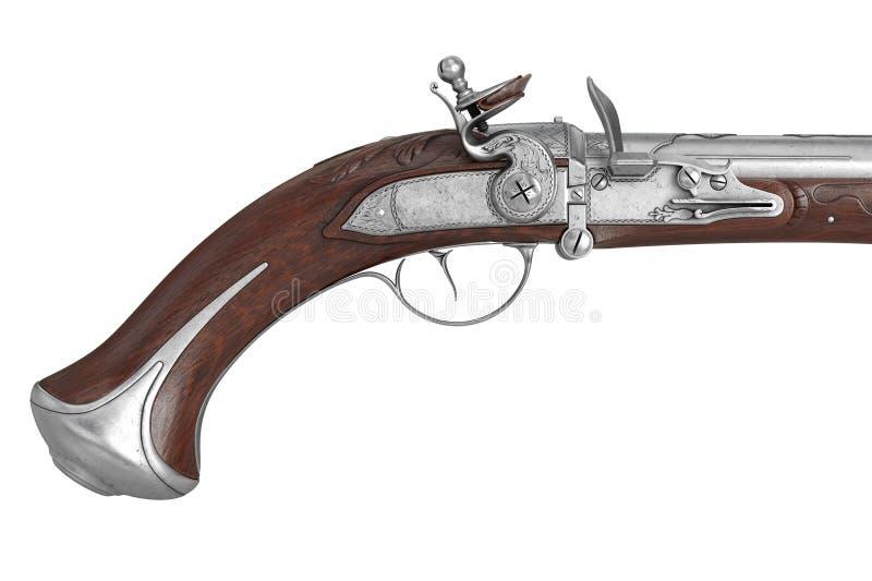Krócicy armatnia rywalizujący z sobą broń, zamknięty widok ilustracja wektor