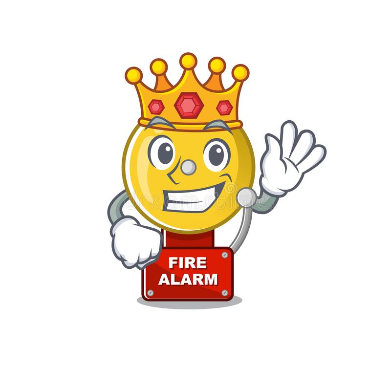 Król alarm pożarowy w kreskówce ilustracji