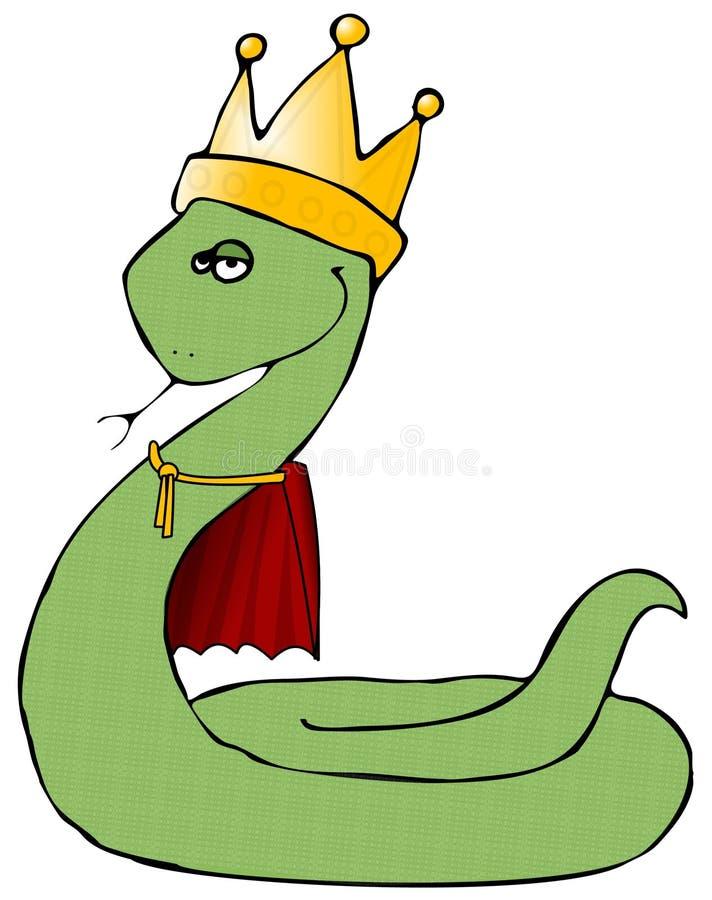 król wąż royalty ilustracja